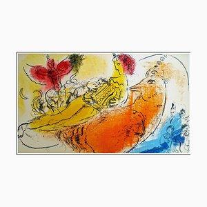 Litografia di Marc Chagall, The Accordionist, 1957