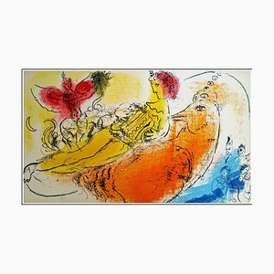 Marc Chagall, The Accordionist, 1957, Lithograph