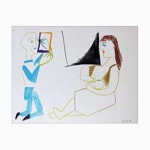 Litografia Pablo Picasso, Human Comedy III, 1954