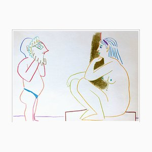 After Pablo Picasso, Human Comedy IV, 1954, Lithograph