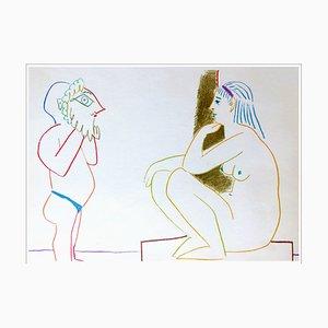 Litografia Pablo Picasso, Human Comedy IV, 1954