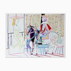 Lithographie de Pablo Picasso, Human Comedy VI, 1954