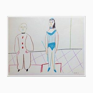 Litografia di Pablo Picasso, Human Comedy X, 1954
