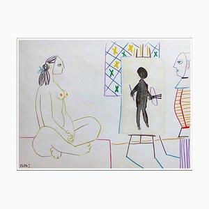 Dopo Pablo Picasso, Human Comedy XI, 1954, Litografia