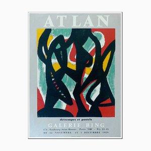 Poster Jean-Michel Atlan, Tempera e Pastels Gallery Bing, 1959, Litografia