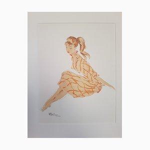 Jean-Gabriel Domergue, La Parisienne: Cathie, 1956, Litografia