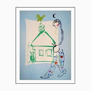 Litografia originale di Marc Chagall, My Village, 1960