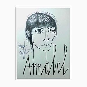 Bernard Buffet, Annabel, 1960s, Lithograph Poster