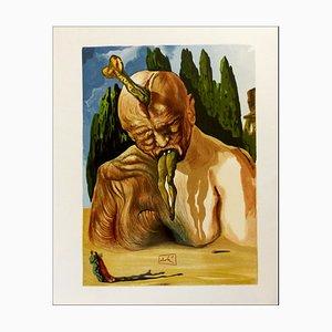 Salvador Dali, The Logician Devil, 1960, Woodcut
