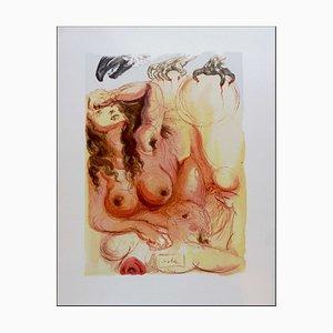 Salvador Dali, The Dream, 1960, Woodcut