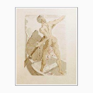 Salvador Dalì, Caronte e il Passaggio dell'Acheronte, 1960, Incisione su legno