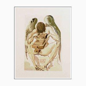 Salvador Dalì, The Fallen Angel, 1960, Incisione su legno