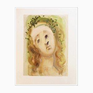 Salvador Dalì, The Face of Virgil, 1960, Incisione su legno