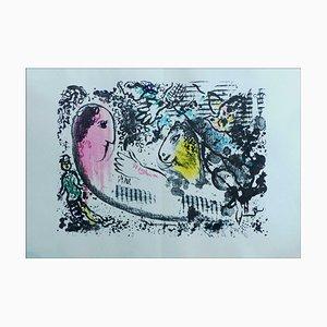 Litografia originale di Marc Chagall, Reverie, 1969