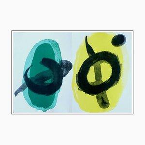 Litografia Joan Miro, giallo e verde, 1961