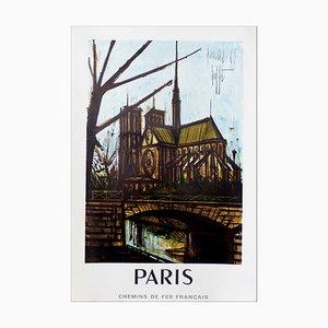 Póster de Bernard Buffet, Notre Dame De Paris, ferrocarriles franceses, 1964