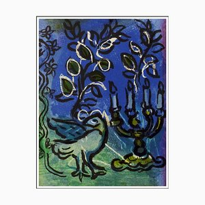 Marc Chagall, The Candlestick, 1962, Originale Lithographie