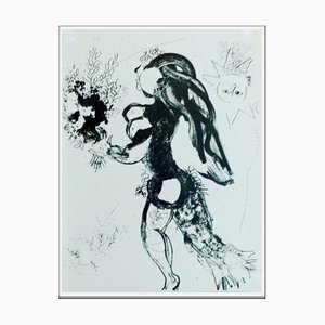 Marc Chagall, The Offering, 1960, Original Lithograph