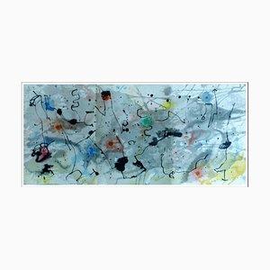 Litografia originale di Joan Miro, composizione colore III, 1961