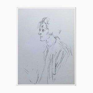 Litografia originale di Alberto Giacometti, Profile of a Woman, 1964