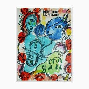 Litografia originale di Marc Chagall, Pantomimes, 1972