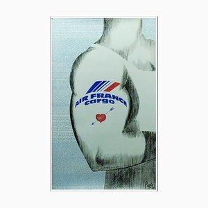 Pagine di Raymond, Air France Cargo, anni '70, poster inciso sulla foto