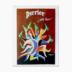 Poster di Bernard Villemot, Perrier c'est fou, 1979