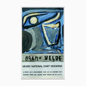Poster Bram Van Velde, Museo d'arte moderna di Parigi, 1971, Litografia