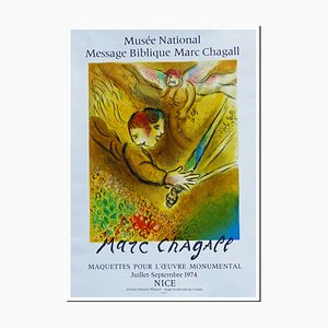 Marc Chagall, The Angel of Judgment Nice, 1974, Lithograph Poster