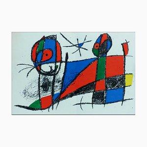 Litografia originale di Joan Miro, Litografia VI, 1975