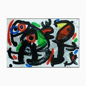 Litografia originale di Joan Miro, scultore Composition II, 1970