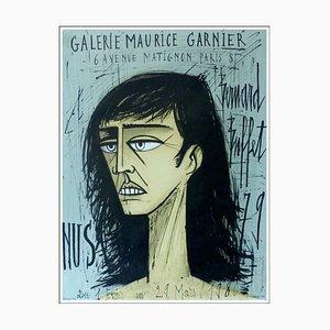 Póster de la litografía Bernard Buffet, Nudes, 1979, Galerie Maurice Garnier