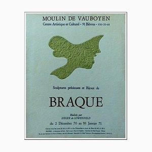 Sculture e bijoux di Braque, Moulin du Vauboyen, 1971, Poster originale litografico