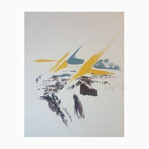 Mireille Berrard, The Stranger, 1976, Originale Lithographie, handsigniert