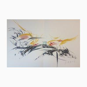 Mireille Berrard, The Stranger, 1976, Original Lithograph, Hand Signed