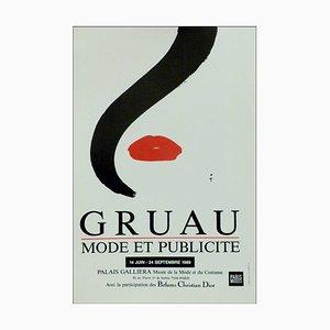 Poster di René Gruau, pubblicità Poster Palais Galliera, 1989