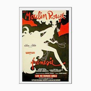 René Gruau, Bal du Moulin Rouge Frenzy, 1980, Lithograph Poster