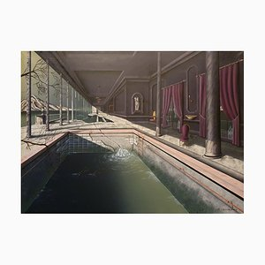 Thierry Van Quickenborne, Private Swimming Pool, 1988, Acrylic on Canvas