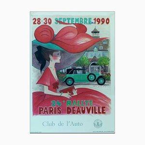 Denis-Paul Noyer, 24 ° Rallye Paris Deauville, 1990, Poster