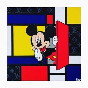 Fov, Mickey Mondrian, 2021, Media misti su tela