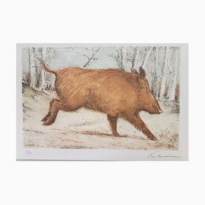 Blaise Prudhon, The Boar, Hand Signed Lithograph
