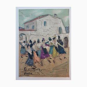 Toussaint Ambrogiani D'orcino, L'arlésienne, Original handsignierte Lithographie