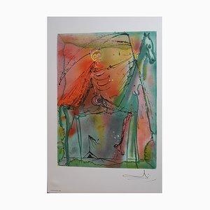Lithographie de Salvador Dali, The Horse of Death
