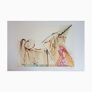 Litografía Salvador Dali, The Unicorn