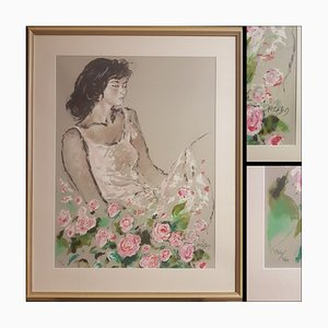 Jacques Pecnard, Artist Bouquets and Wild Flowers, Hand Signed Lithograph