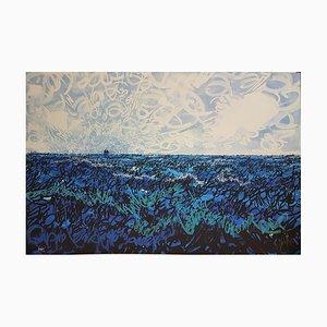 Raymond Moretti, La Fanette von Jacques Brel, signierte Lithographie