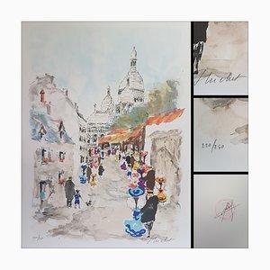 Urban Huchet, Le Sacré-Coeur, Lithograph Signed in Pencil