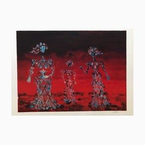 Lucien Coutaud, The Three Women, Hand Signed Lithograph
