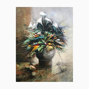 Francois D'Izarny, The Vase of Flowers, Hand Signed Lithograph