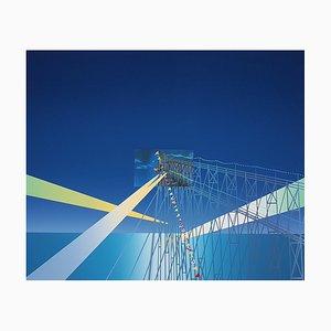 Jean-Michel Folon, Je vous écris de Coney Island, Hand Signed Screen Print